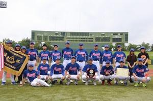 ▲2年連続3回目の優勝果たした野球部員