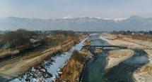「安曇野大橋」から眺める安曇野はまさに絶景の一つ。